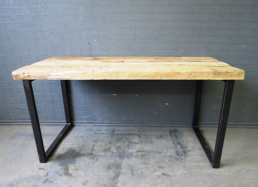 Industrial Chic Reclaimed Custom Office Desk HCB Steel & Wood 092