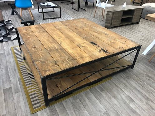***IN STOCK*** RECLAIMED TIMBER LARGE COFFEE TABLE IN OIL