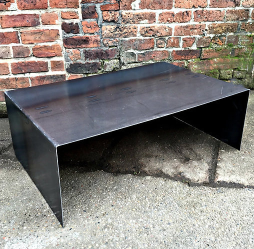Industrial Chic All Steel Cube Coffee Table 248