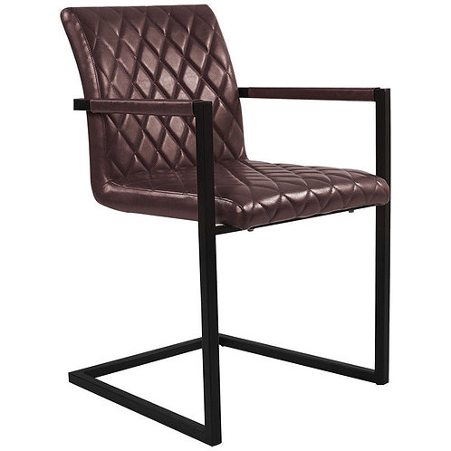 Industrial Style Dining Arm Carver Chair in Grey, Brown or Tan