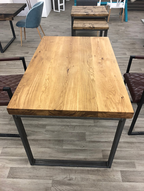 ***IN STOCK*** 60mm THICK FULL STAVE OAK TABLE IN OIL