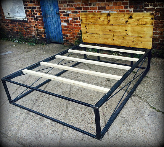 Reclaimed Industrial Chic Hand Made Bed 412