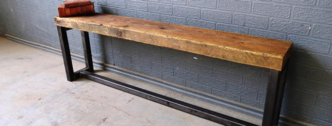 Industrial Chic Universal Reclaimed Bench Matching Bench for Tables-611