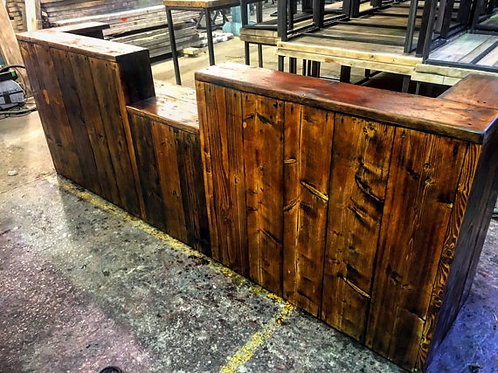 Reclaimed Industrial Chic Custom Hand Made Bar Front Counter 493