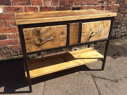 Reclaimed Industrial Chic Rustic Sideboard Dresser Cupboard 217