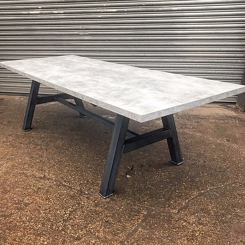 Industrial Chic Concrete Style A-Frame Dining Table 632