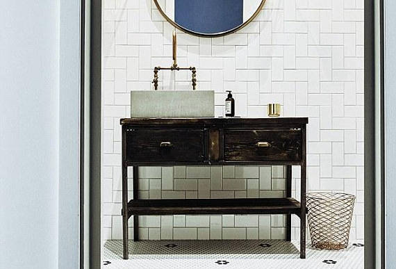 Reclaimed Industrial Rustic Bathroom Basin Washstand Sideboard with Drawer 564