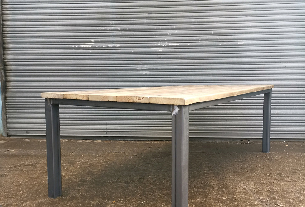 Industrial Chic Large Reclaimed Conference Straight Leg Dining Table 638