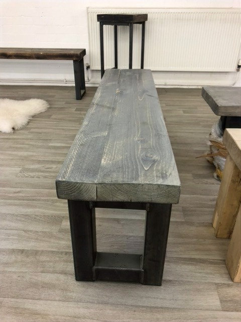 ***IN STOCK*** RECLAIMED TIMBER BENCH IN GREYWASH