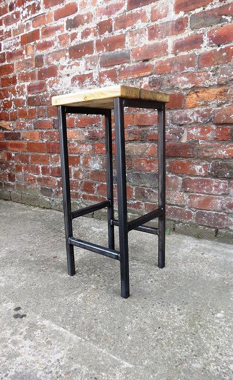 Reclaimed Industrial Chic Style Solid Wood & Metal Breakfast Bar Stool 123