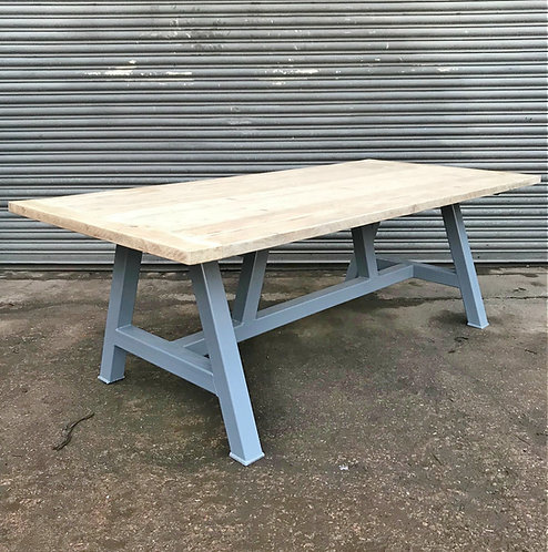 Reclaimed Industrial Chic Farmhouse A-Frame Solid Wood Dining Table 617