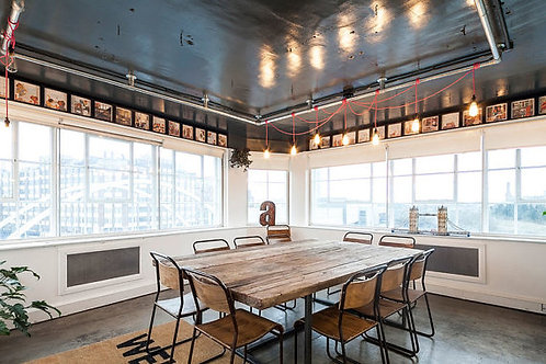 Reclaimed Industrial Chic 10-12 Seater Conference Office Table CB Steel Wood 233