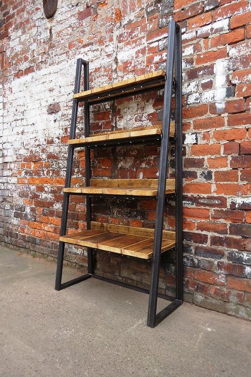 Industrial Chic Reclaimed Custom Steel Wood Bookcase Media Shelving Unit 181