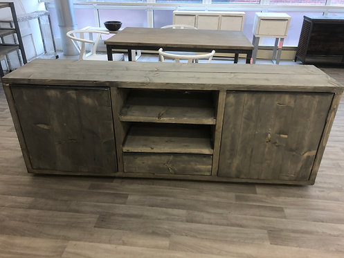 ***IN STOCK*** RECLAIMED TIMBER SIDEBOARD / TV UNIT IN GREYWASH
