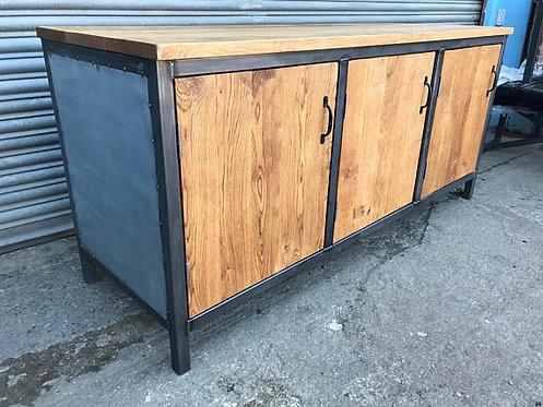 Industrial Chic Solid Oak Sideboard Dresser 571
