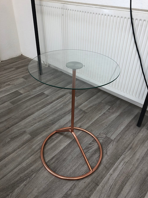 ***IN STOCK*** ROUND GLASS COFFEE TABLE / SIDE TABLE
