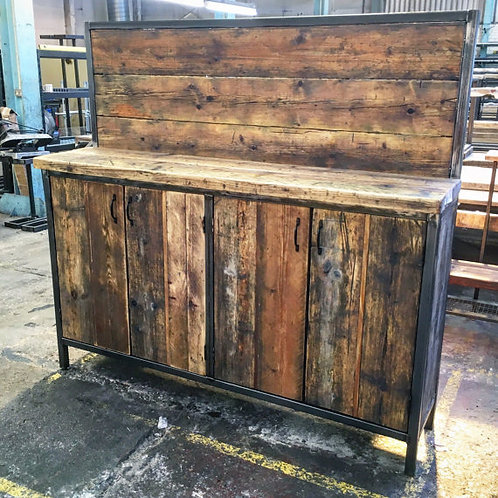 Reclaimed Industrial Chic Rustic Sideboard Dresser 191