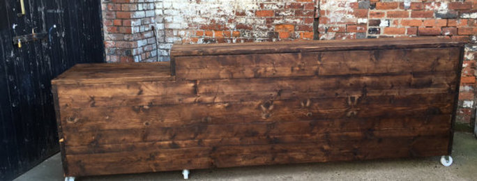 Reclaimed Industrial Chic Custom Hand Made Bar Front Counter 020
