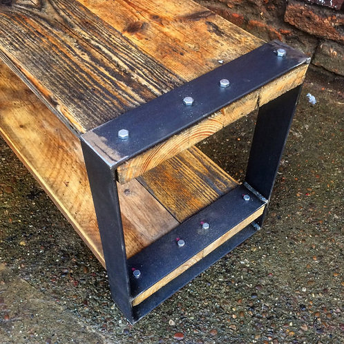 Industrial Chic Style Reclaimed Custom Coffee Table TV Unit 161