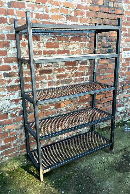 Industrial Chic Reclaimed Custom Steel & Copper Wire Bookcase Shelving Unit 287
