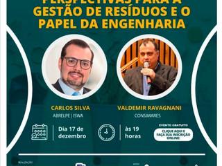 Palestra sobre 'Perspectivas para a Gestão de Res. e o Papel da Engenharia' encerra calendário 2020
