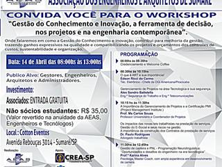 """Profissionais e Estudantes - Workshop """"Gestão do Conhecimento e Inovação"""""""
