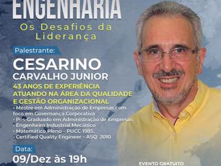 """AEAS realiza palestra online """"Engenharia: os desafios da liderança"""""""