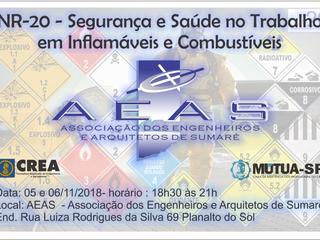 CURSO NA AEAS DIA 05 e 06/11/2018