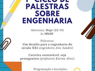 Convite!  1º Ciclo de Palestras