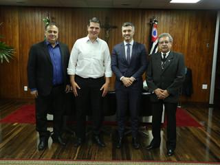 Presidente e diretor da AEAS são recebidos na Alesp