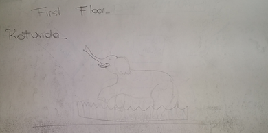 Drawing I did of Henry at the Smithsonian Rotunda when I was 7 years old.
