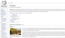 Lestodon article | Wikipedia