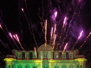 Eclairage de la façade du Château Bugatti à Molsheim