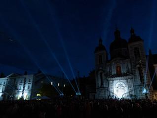 Mise en lumière de la place de l'Hôtel de Ville de Chalon-sur-Saône