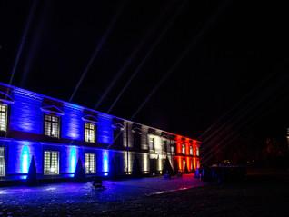 Mise en lumière de la façade de l'Hôtel de Ville de Vitry-le-François