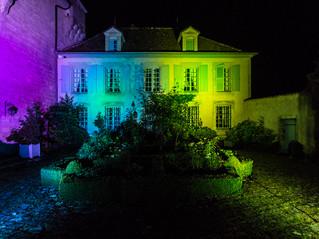 Eclairage de la façade du Château de Boucq