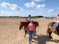 Leading horse at HOTEA Horse Camp