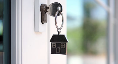 The house key for unlocking a new house