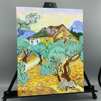 White Cottage among the Olive Grove (After Van Gogh)_1