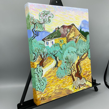 White Cottage among the Olive Grove (After Van Gogh)_2