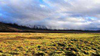 Clouds along the rim