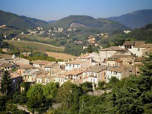 View, Spoleto, italy