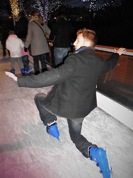 Ice skating, Edinburgh, Scotland