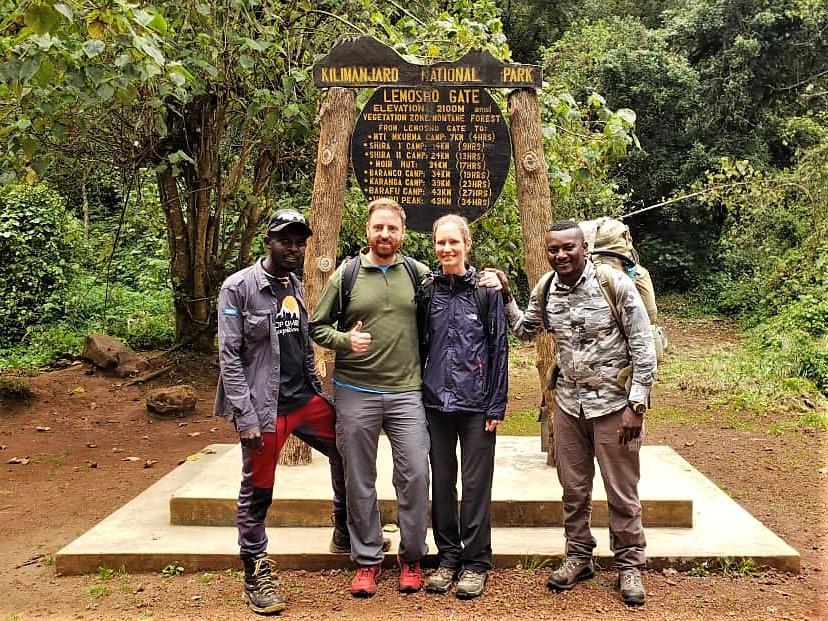 FC (left), Manyama (right) and us