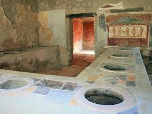 pompeii, italy, ruins, thermopolium