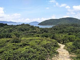 hong kong, lantau island, lantau trail, hiking, mountains, view, sea