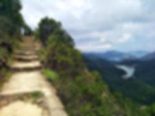hong kong, trail, mountain, hiking, view, island, water, reservoir