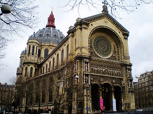 church, st augustin, paris, france