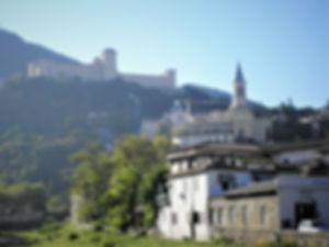 Rocca Albornoziana, castle, fortress, spoleto, italy