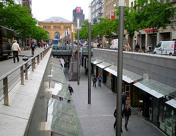 hanover, germany, street, shopping